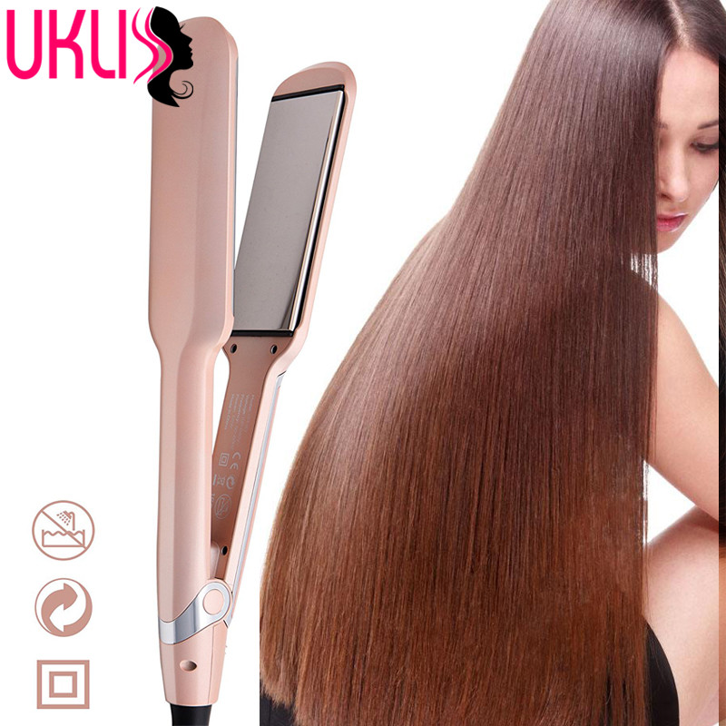 2017 infrared Hair Straightener iron with Smart Sensor Flat Iron Digital Plancha High Quality Fast Hair Irons Curling Curler good quality professional remington hair straightener s8590 keratin therapy digital straightener with smart sensor eu us plug