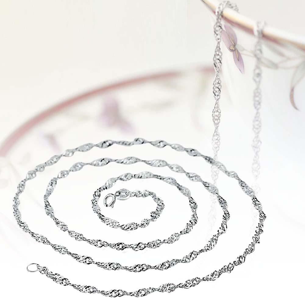 Necklaces & Pendants Efficient 1pc 3mm Width Pure 925 Sterling Silver Charm Rope Necklace Chains Jewelry With Good Quality Lobster Clasps Set 16/18inches A Great Variety Of Goods Jewelry & Accessories