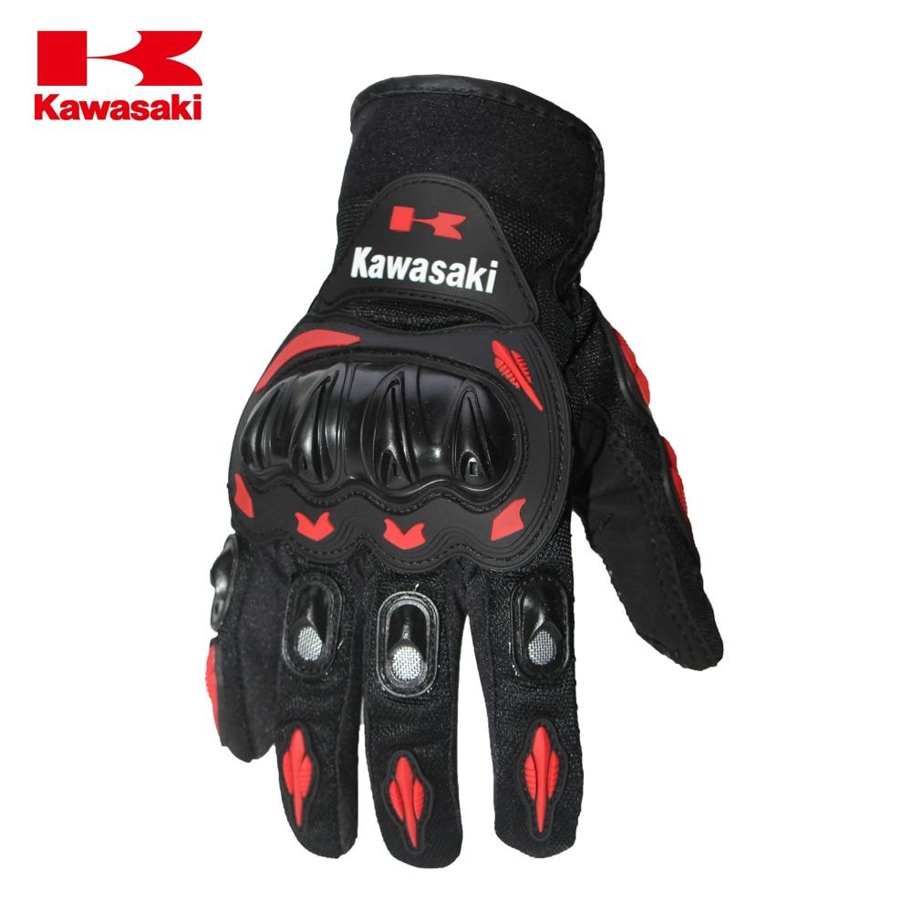 Motorcycle gloves xl - Hot Sale Summer Motorcycle Motorbike Gloves Retro Kawasaki Moto Racing Gloves Men S Motocross Full Finger Gloves