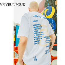VFIVEUNFOUR 2019 Summer Cotton Printing T-shirt Unisex Casual Harajuku T Shirt Men Women Graphic Tees Streetwear Top Tee