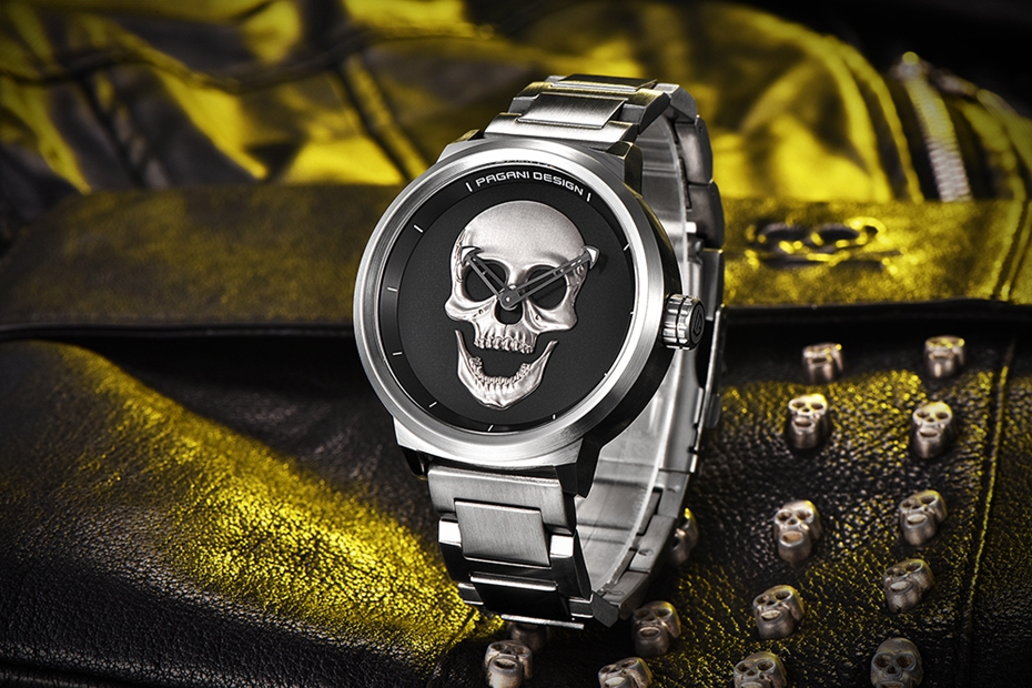 Top Luxury PAGANI DESIGN Punk 3D Skull Watch Men's Retro Fashion Watch Brand Man Clock Military Aviator Quartz Relogio Masculino (36)