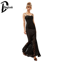 DayLook Homecoming Party Sexy Lace Maxi Dress For Women Christmas Party Lace Dress Long Style Night