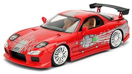 Jada 1:24 FAST & FURIOUS 8 F8 DOM'S MAZDA RX-7 Red RX7 Diecast Model Rcing Car NEW IN BOX