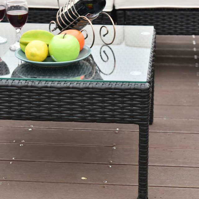 Online Shop Giantex 6 Pcs Rattan Wicker Patio Furniture Set Steel