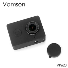 Vamson For Xiaomi for Yi Accessories Dust proof Silicone Protective case + Lens cap For Xiaomi for Yi Sport Action Camera VP620