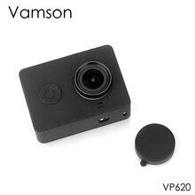 Vamson לxiaomi עבור יי אביזרי אבק הוכחה סיליקון מגן מקרה + עדשת כובע לxiaomi עבור יי ספורט פעולה מצלמה VP620