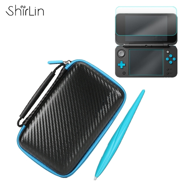 3 In 1 Accessories Set For New 2ds Ll With Eva Carrying Case Bag
