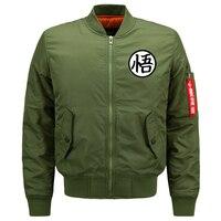 Winter Jacket Mens Parka Men Bomber Wu Jacket Men Pilot With Patches Green Both Side Wear