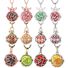 2019 Mexico Chime Hollow Vintage Locket Necklace Jewelry Music Angel Wings Ball Pregnant Pendant Exquisite Accessories