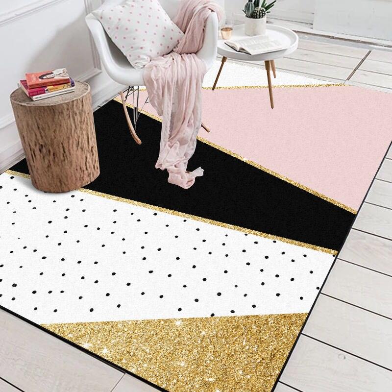 Bedroom Black Rug Glass Bedroom Door Bedroom Paint Ideas Feature Walls Bedroom Door Colors: Aliexpress.com : Buy Modern Geometric Pink White Golden