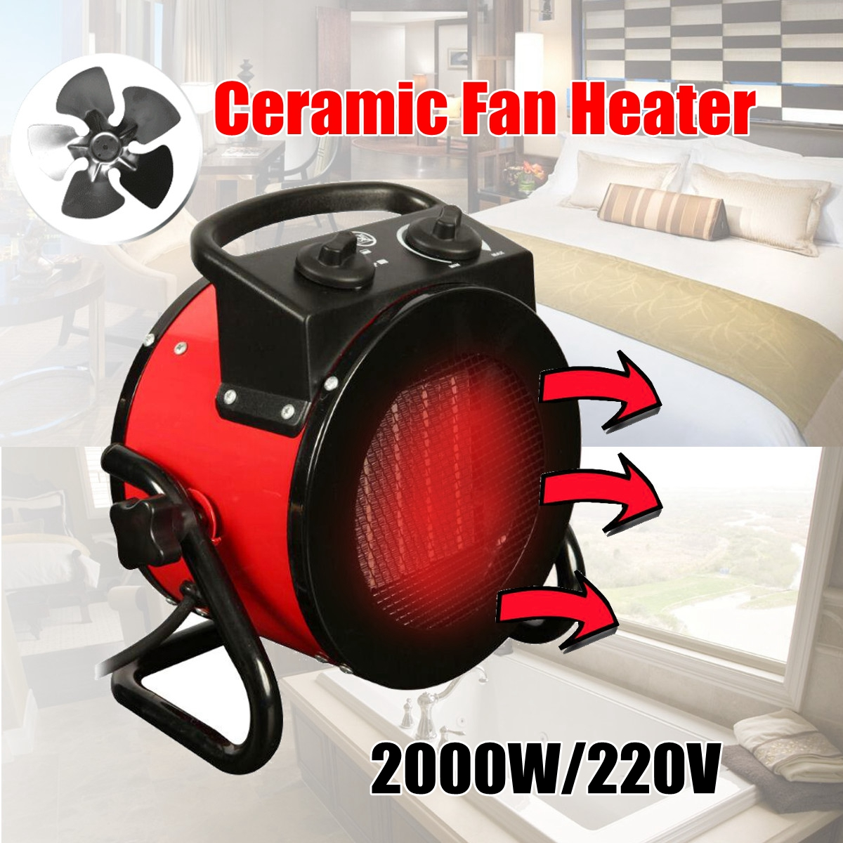220V 9A 50HZ 2000W electric home fan heater air warmer Portable ptc Ceramic Fan Forced Space Heater Electric warm air blower minf01 10 free shipping ptc ceramic space heater electric 220v 500w warm winter mini desktop fan heater forced home