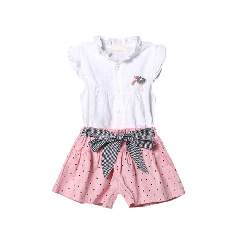 58133e96a7c Νέο στυλ καλοκαίρι κορίτσι μωρών σύνολα μωρών δαντέλα μποξ βαμβάκι ...