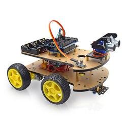 Макетная плата для робота-автомобиля, многофункциональный комплект для сборки 4WD, комплект с корпусом для автомобиля с R3 платой 170 точек