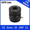 3 Megapixel Fixa CS Monte CCTV Lente Da Câmera 6mm Para 720 P/960 P/1080 P IP câmera e AHD/CVI/TVI Camera Frete Grátis
