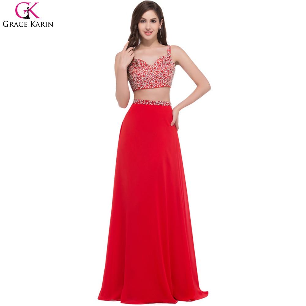 grace karin two piece prom dresses robe de soiree long With robe de soirée 2 pièces