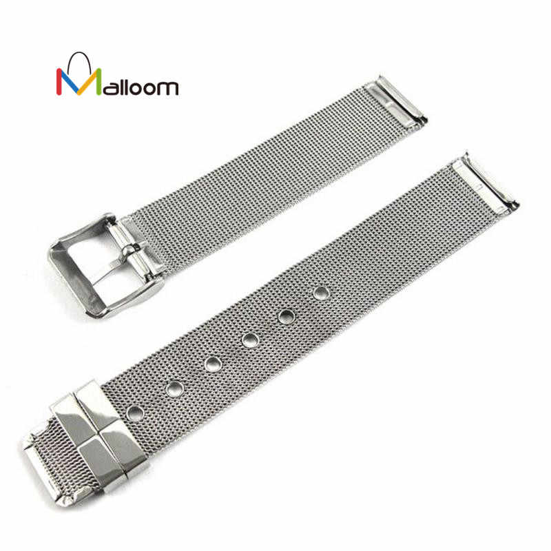 Bracelet de montre milanais 14mm 16mm 18mm 20mm 22mm 24mm universel en acier inoxydable Bracelet de montre en métal Bracelet en argent # P30