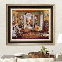 Living Room Framless Picture Home Decor DIY Acrylic Oil Painting By Numbers Wall Art DIY Canvas