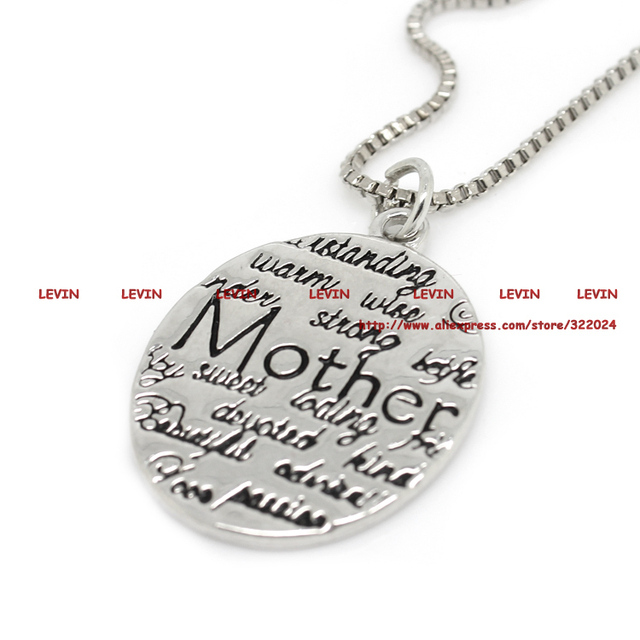 Mother Day Loving Engrave Necklace Jewelry