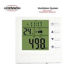 цены RS485 air quality sensor co2 monitor detector controller Relay three speed for adjustment range 350-1500ppm