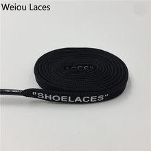 "Weiou Off White Polyester ""SHOELACES"" OW Signed Jointly Black White Screen Printing Flat Shoelaces Custom For Sneakers The Ten(China)"