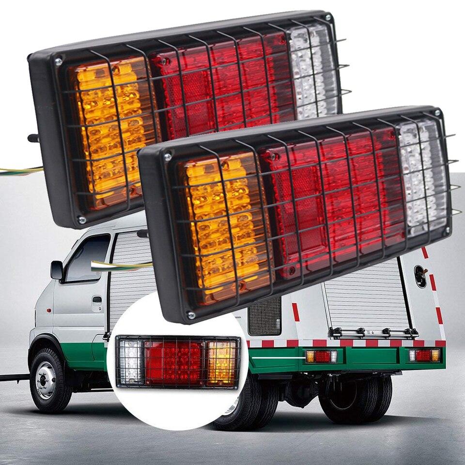 12 V Faro trasero del remolque luces de marcha atr/ás de 40 LED para el barco del cami/ón de remolque. luces de posici/ón traseras de LED 2 unidades