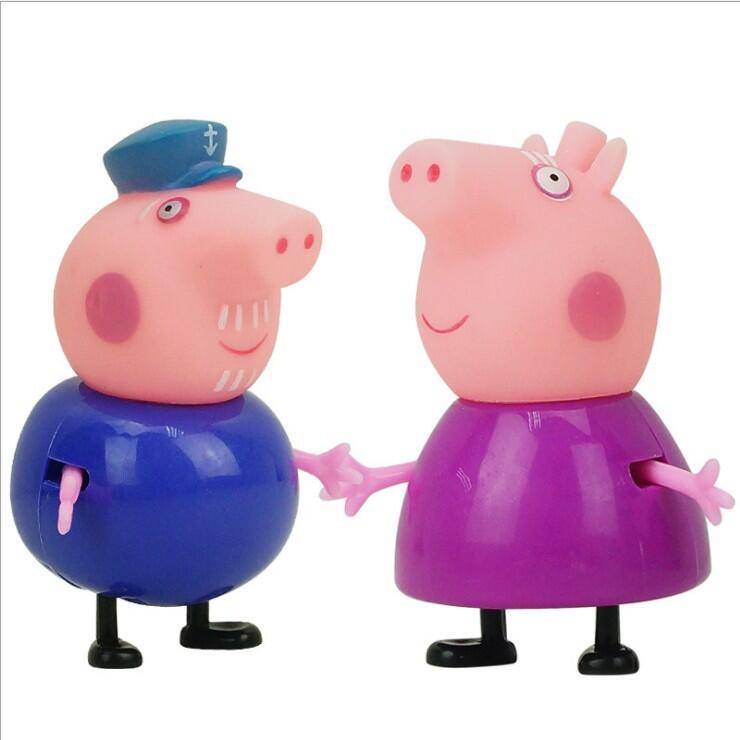 Свинка Пеппа Джордж Пейдж и кошелек плюшевые несколько стилей куклы Мягкие плюшевые мультфильм Свинья семья животных мальчики девочки игрушки - Цвет: 2pcs