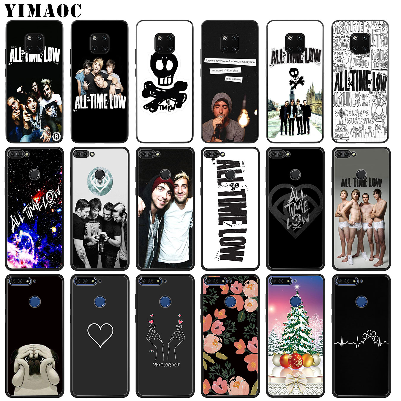 YIMAOC All Time Low Soft Silicone Phone Case for Huawei Mate 30 20 10 Pro Lite Nova 5I 3i 3 2i 2 Lite Black Cover image