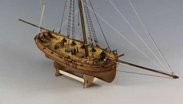 1/64 Sailboat wooden model kits H.M. CUTTER LADY NELSON Ship model kit