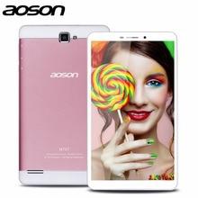 2016 Mejor 7 pulgadas Construido En 3G Teléfono Androide de la Tableta de Aoson M76T Tablet Pc MTK8392 Octa Core Netbook Pc Bluetooth Wifi IPS