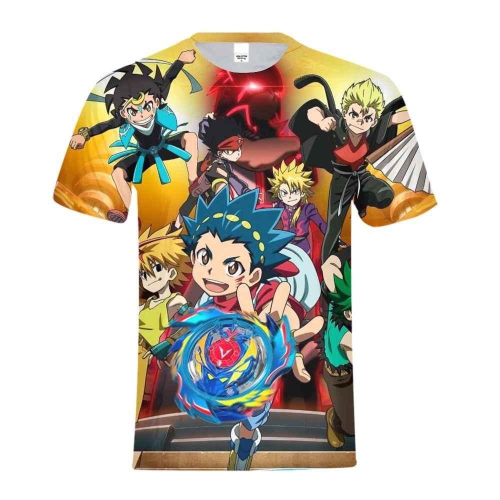 Аниме 3D печать Beyblade Burst игра Pere Noel Мужская Повседневная футболка с коротким рукавом Футболка мужская верхняя футболка уличная Сорочка мужская