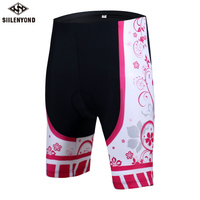 SIILENYOND 2017 Women Lycra Riding Breathabl Quick Dry Bicycle Short Summer Cycling Shorts Riding Bike 3D Padded Bicycle Outdoor