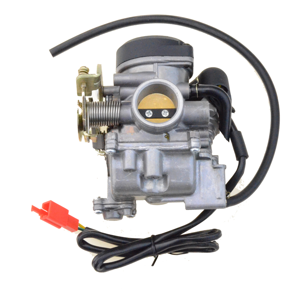 GOOFIT PD27 27mm Carburetor for GY6 200cc Scooter Moped 163 Carb Motorcycle Engine H054 001