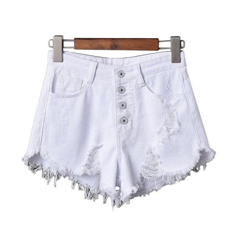 Womens Sexy High Waist Tassel Ripped Jeans Summer Large Size Denim Shorts 13