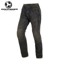 ROCK BIKER Loose Cotton Denim Jeans Motorcycle trousers pantalon moto hombre equipamento motocross racing pants