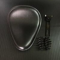 3 inch 3 Leather Motorcycle Sportster Chopper Bobber Custom Solo Spring Bracket Seat