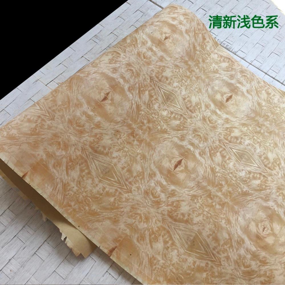 2.5Meter/pcs  Width:55cm  Thickness:0.3mm  Retro Burl Splicing Wood Veneer Decoration(back Side Kraft Paper)
