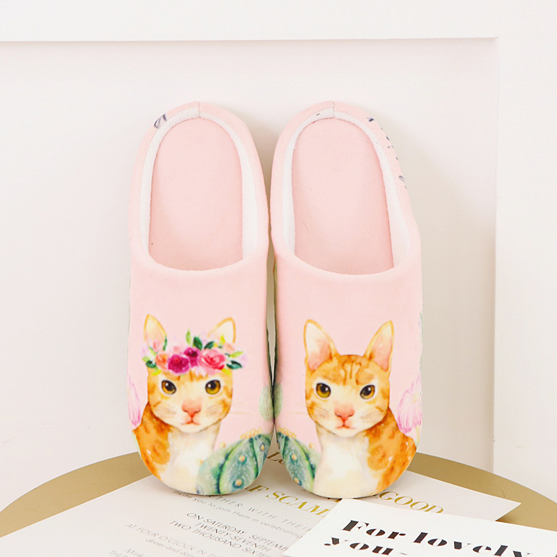 2a773f8bb30 Adult Cat Dog Home Slippers Women Pantufa Cute Shoes Cartoon Fur Unisex  Indoor Chausson Lovely Indoor Chinelo-in Slippers from Shoes on  Aliexpress.com ...