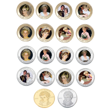 Festival Souvenir Gifts Diana Commemorative Metal Coin 16pcs The Peoples Princess Gift Set