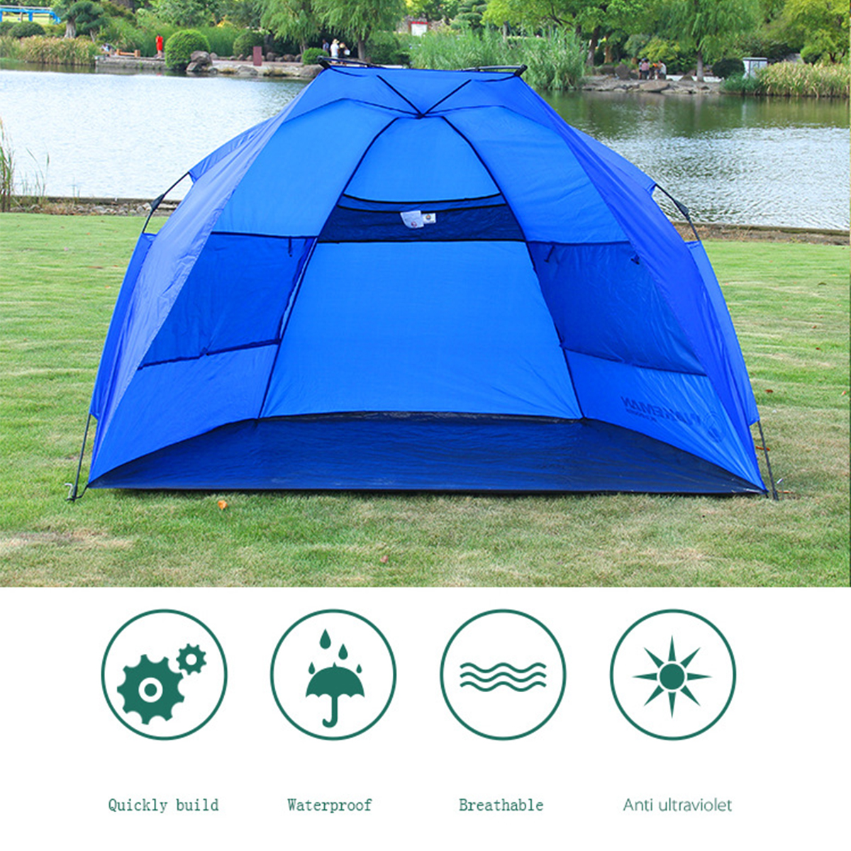 Outdoor Automatic Tents Pop Up Tent Folding Family Travel Quick Shelter Tent Waterproof Fishing Camping Beach Tent Sun Shelter