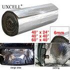 UXCELL 6mm 236mil Thick PE Alumium Foil 60/100/152cm*100cm Car Door Hood Audio Sound Deadener Heat Insulation Dampening Mat PAD