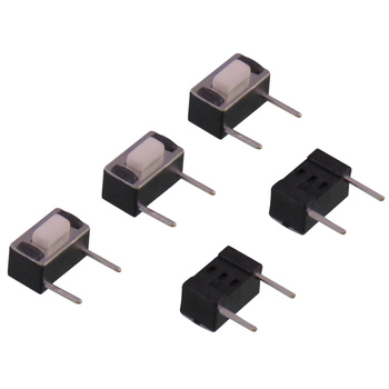 Wholesale white black 90 degree side foot 12V 100ma 2p push button electronic toy switch 3x6x5mm 5h