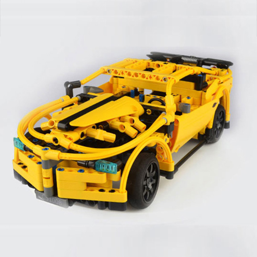 419 unids RC Building Blocks Car amarillo Camar Model Building Kit - Juguetes de construcción - foto 4
