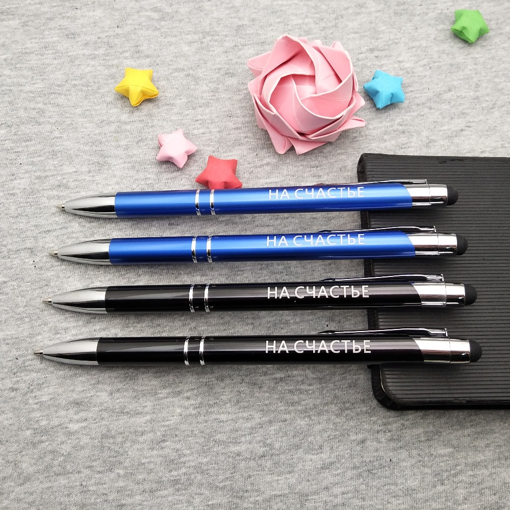100sets Personalized wedding gifts and favors nice colorful phone stylus pen custom free with any logo/design/email/image