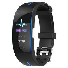 P3 Bluetooth smart watch blood pressure real-time heart rate monitoring ECG+PPG ECG IP67 waterproof sports smart bracelet ad8232 single lead ecg analog front end acquisition ecg monitoring ecg sensor development board