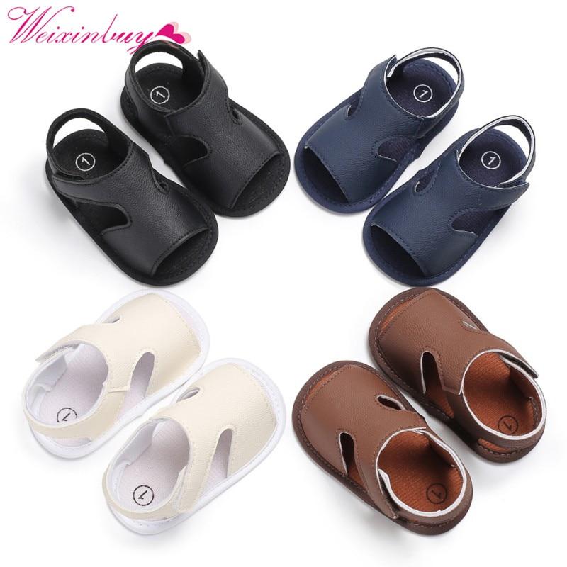 Boy Sandals Newborn Baby Shoes PU Sports Baby Boy Sandals Fashion Baby Boy Shoes Beach Leisure Baby Sandals