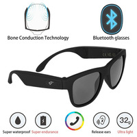 G1 Polarized Glasses Bone Conduction Headset Sunglasses Bluetooth SmartTouch Stereo Earphones Wireless Headphones w/ Microphone