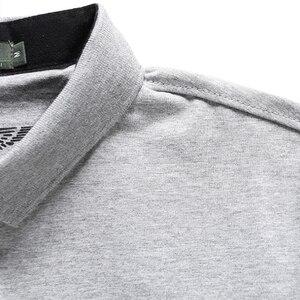 Image 5 - Polo de algodón de marca de alta calidad para hombre, camiseta informal lisa, camisa, polos para hombre
