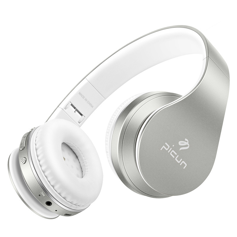 Picun P16 Wireless Bluetooth Stereo Bass Headphone With Microphone FM Radio Music Sport Running Headsets TF MP3 Gaming Headset