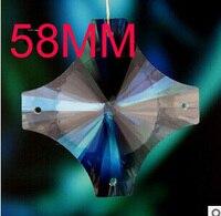 58mm iluminação De Cristal pingente de cruz pingente de cristal do grânulo cortina de acessórios, acessórios de iluminação