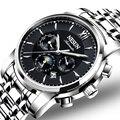 Швейцарские роскошные Брендовые Часы NESUN  Мужские автоматические механические часы  мужские светящиеся многофункциональные часы  N9805-1